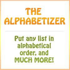 Alphabetical Order Alphabetize A List In Alphabetical Order And Much More