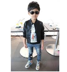 new 2016 spring fashion baby boys skull print faux leather jackets coat kids trendy autumn motorcycle