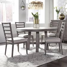 80cm round dining table and 4 chairs set patchwork fabric solid wood home white. Liberty Furniture Modern Farmhouse 5 Piece Round Table And Chair Set Standard Furniture Dining 5 Piece Sets