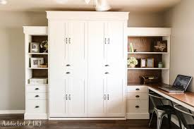 murphy bed home office. Ana White Modern Farmhouse Murphy Bed And Bookcase Featuring In Office Desk Decor 4 Home
