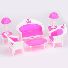 barbie dollhouse furniture cheap. 6 PCS Dollhouse Furniture Ruang Tamu Sofa Meja Plastik Set Aksesoris Untuk Barbie Doll Hadiah Terbaik Mainan Anak Di Boneka Dari \u0026 Hobi Cheap U