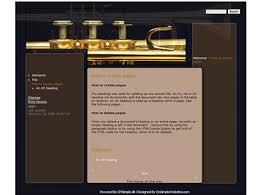 Music Website Templates Stunning CmSimpleWebsites Free Website Templates Trumpet Black