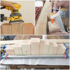 diy wood block candle holder