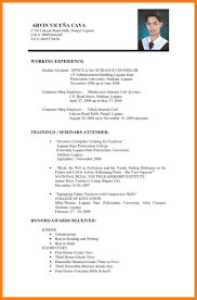 What Is The Format Of Resume 24 Simple Filipino Resume Format New Looks Wellness 22