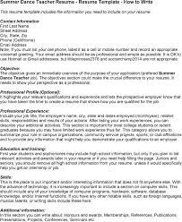 Sample Dancer Cover Letter 3 Dance Instructor Techtrontechnologies Com