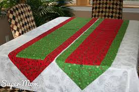 one hour table runner christmas one hour table runners in red and green