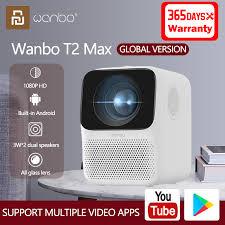 Xiaomi Global Version Wanbo <b>T2</b> Max <b>LCD Projector</b> 1080P Vertical ...
