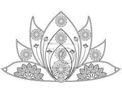 Vektor Illustration Von Mandala Lotus Blume Für Malbuch Fiore