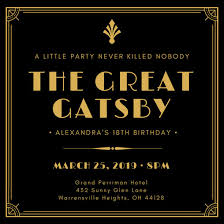 Great Gatsby Invitation Template Brand New Great Gatsby Flyer Template Ux13