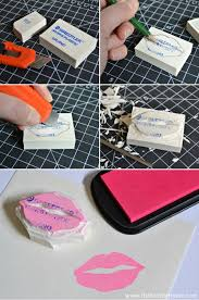 learn how to make your own stamps it s easy hello little
