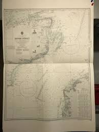 Dover Strait Chart England South Coast Navigational Chart Hydrographic Map