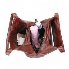hobos bag women leather handbags female shoulder bags lady tote soft bag vintage bags for women casual bolsos feminina 2019 sac in shoulder bags from