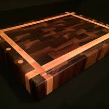 great a hand made black walnut and rock maple end grain chopping block made to order from magnolia place woodworks with cutting board ideas