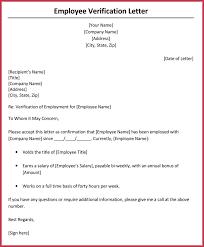 Income Verification Letter 6 Samples Formats