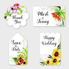 Wedding Label Templates Watercolor Floral Wedding Label Collection Template For Free