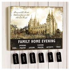 Family Home Evening Chart Ideas Family Home Evening Chart On Canvas I Like The Temple As