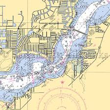 Nautical Charts Cape Coral Florida Florida Cape Coral Nautical Chart Decor Florida
