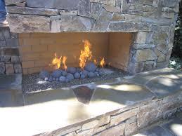 gas fireplace gravel 1 outdoor