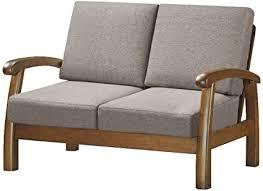 Non solo deve essere comodo, ma anche bello da vedere, perché il divano è il fulcro di una casa. Divano 2 Posti Legno Divanetto Tessuto Poltrona Relax Struttura In Legno Amazon It Casa E Cucina