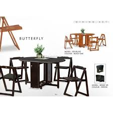 dining room folding chairs. Butterfly Wooden Foldable Dining Table And 4 Folding Chairs Set 1+4 Room T