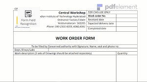 Work Order Template Free Download Create Edit Fill And