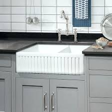 33 inch fireclay farmhouse sink place reversible double bowl x farmhouse kitchen sink 33 white fireclay