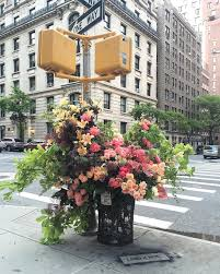for the last few months new yorkers have been treated to an unexpected sight during their daily commutes as random trash cans around the city have been