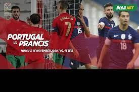 Timnas portugal akan menghadapi timnas prancis di di grup f euro 2020 bakal dilangsungkan di stadion puskas arena, kamis (24/6/2021) dini hari wib. Prediksi Portugal Vs Prancis 15 November 2020 Bola Net