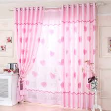 girls bedroom heart shaped eco friendly dusty pink curtains