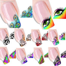 Wholesale Hot Mixed Colorful Sexy French Tips Water Transfer Nail ...