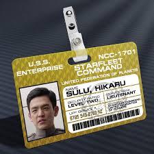 Id Badge Trek Prop - Away Cast Sulu Mission Star The New