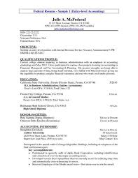 Sample Resume Objective For Accounting Position Resume For