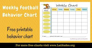 Free Weekly Behavior Chart Football Player Acn Latitudes