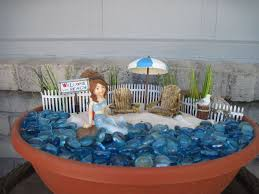 beachy fairy garden