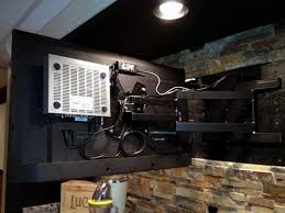 hide cable box behind wall mount tv mounts