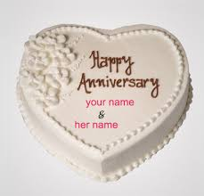 Write Name Happy Anniversary Cake Silver Cake Namegifcom