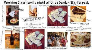 working class family night at olive garden starterpack