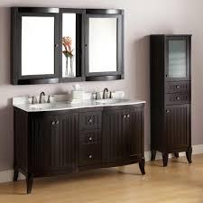 bathroom linen closet ideas 383795 l white top espresso vanity set bathroom linen closet