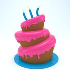3d Model Birthday Cake 04 Cgtrader