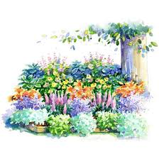 Small Picture No Fuss Shade Garden Plan Garden planning Perennials and Small