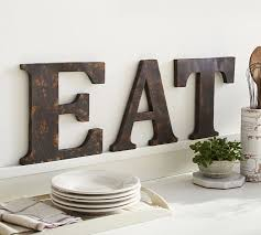 rustic metal letters o