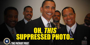 Image result for photo of obama and farrakhan