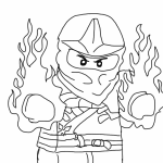 Small Picture Lego Ninjago Coloring Pages for Kids Free Printable Ninjago