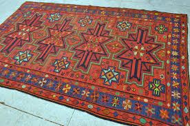 caucasian sumak kilim rug vintage azeri kilim 6 0 x 9 8 183 x 294 cm