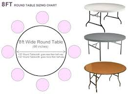 8 ft table cloth what size tablecloth for round black