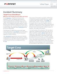 Security Incident Report Data Breach At Target Corporation