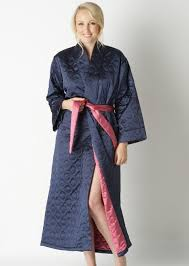 quilted dressing gown available via PricePi.com. Shop the entire ... & 132cms52cms. ladies midnight blue quilted kimono dressing gown. PINKCAMELLIA Adamdwight.com