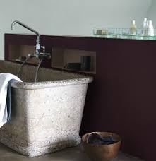 dulux exterior paint colors south africa. spa style bathroom with stone bathtub and earthy colours. dulux exterior paint colors south africa