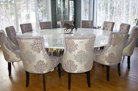 Marble Dining Table Round Round Dining Room Table Set Round Kitchen Table With 6 Brown
