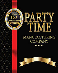 <b>Party Time</b> Manufacturing Co. Toll Free: 800-346-3847